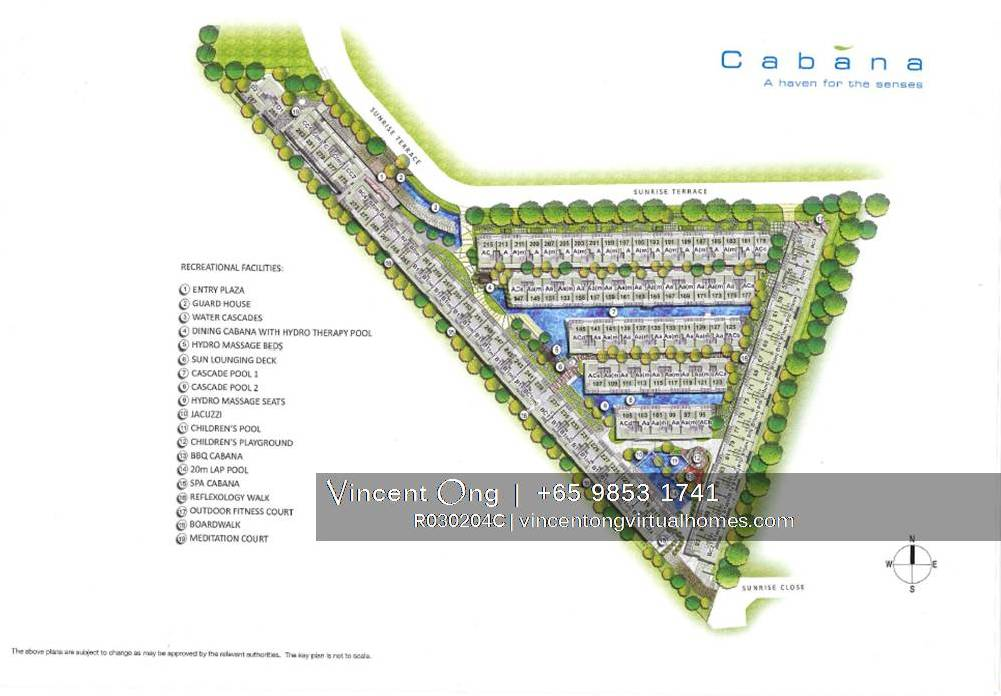 cabana site plan, call 6598531741