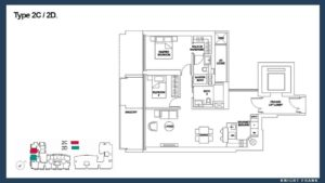 Marina One Residences 2 Bedroom Floor Plan call 6598531741