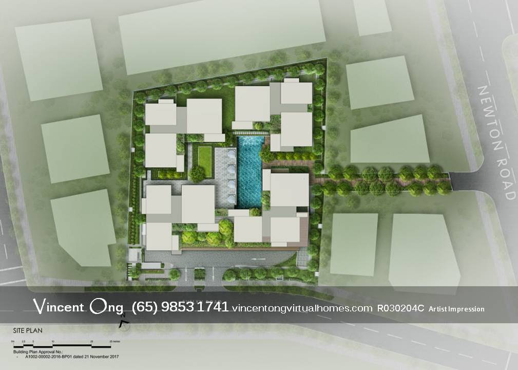 10 Evelyn @ Newton Site Plan call 6598531741