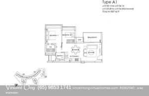 Sophia Residence Floor Plan call 6598531741