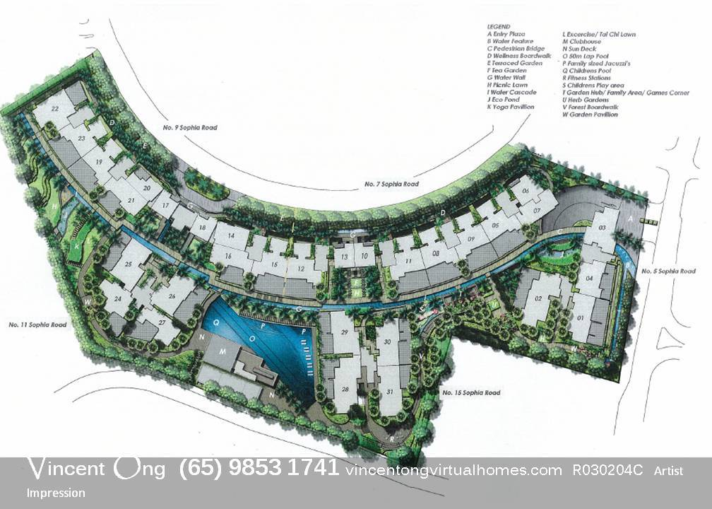 Sophia Residence Site Plan call 6598531741