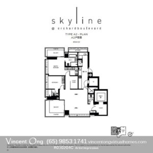Skyline at Orchard Boulevard Type A2 Floor Plan