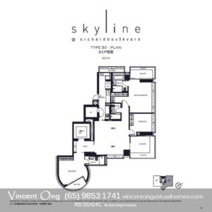 Skyline at Orchard Boulevard Type B3 Floor Plan