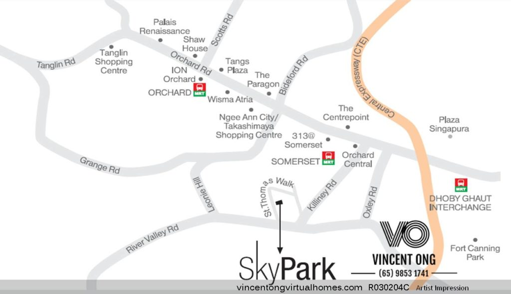 SkyPark at Somerset Location Map, call 6598531741
