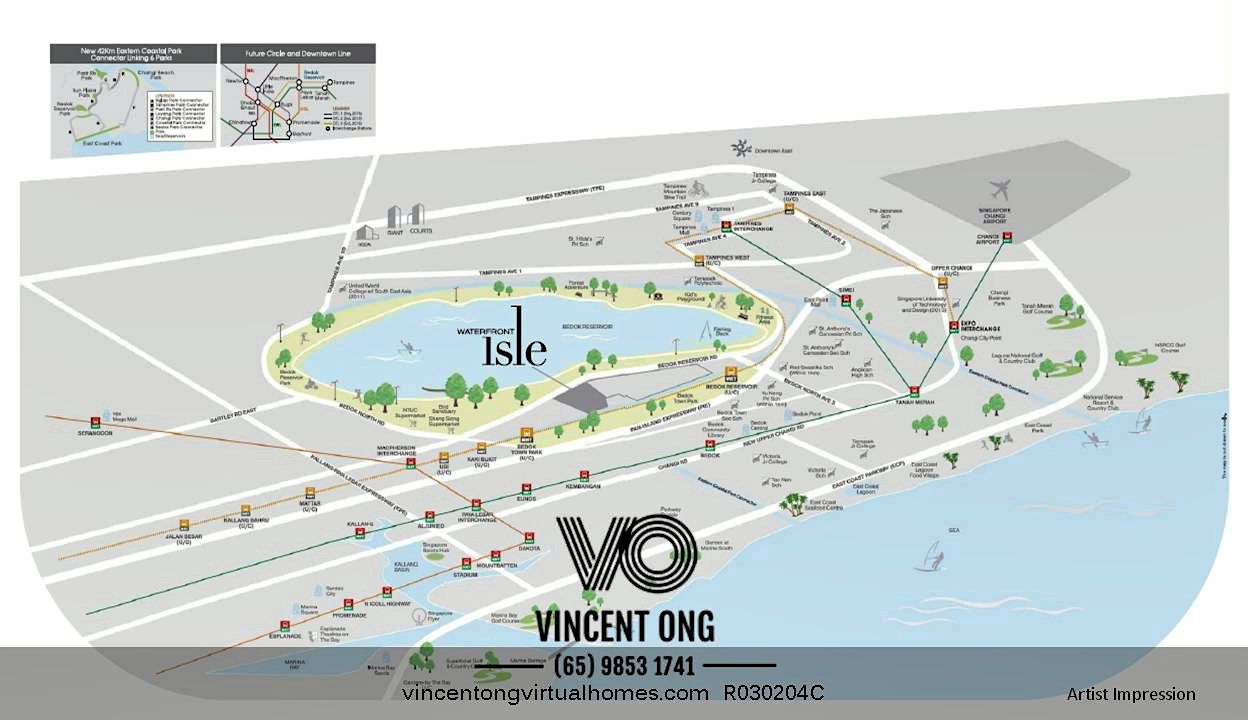 Waterfront Isle Location Map