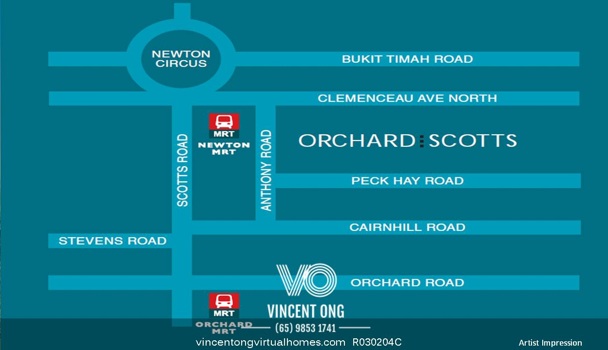 Orchard Scotts Location map