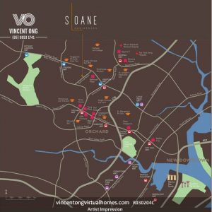 Sloane Residences at Balmoral Road District 10 Location Map, call 6598531741